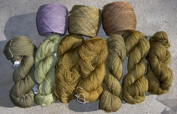 Natural Dye Sock Skeins sm