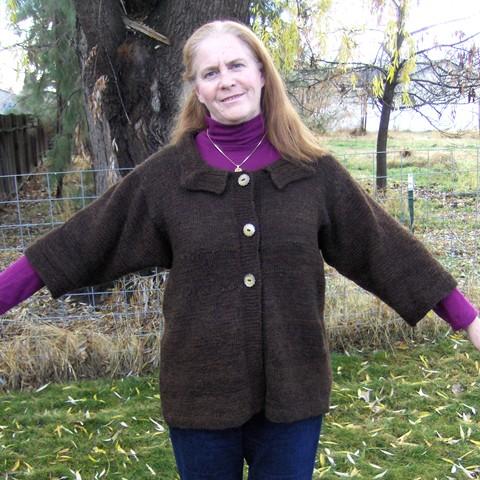 Handspun Brown Sweater sm